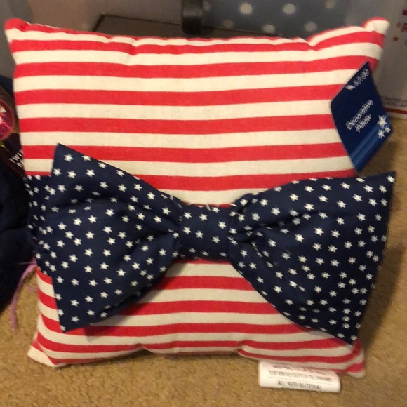 None Other - American flag decorative mini pillow new